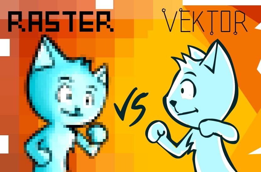 Illustrasi raster vs vector
