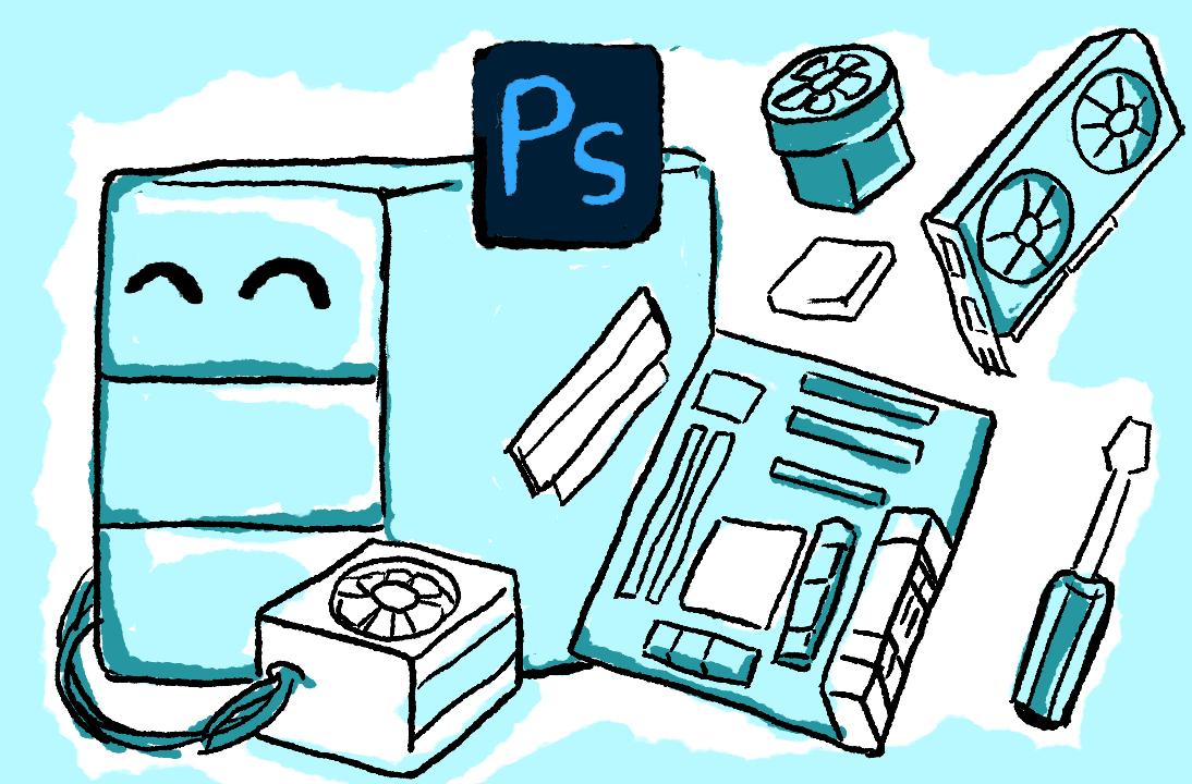 Merakit PC optimal untuk Photoshop dan Desain Grafis