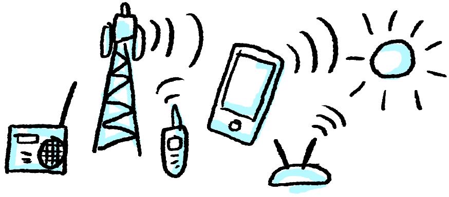 berbagai alat dengan sinyal elektromagnetik