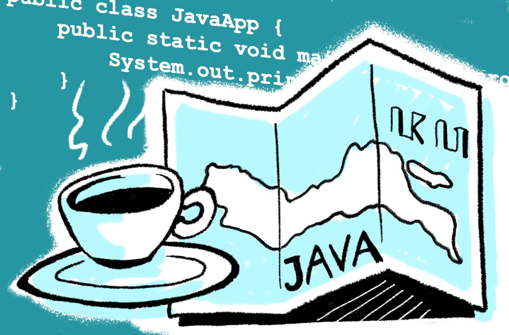Java, antara Nama Pulau, Kopi, Aksara, Bahasa dan Pemrograman
