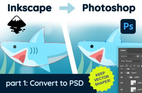 Inkscape & Photoshop #1: Convert SVG to PSD with Editable Vector