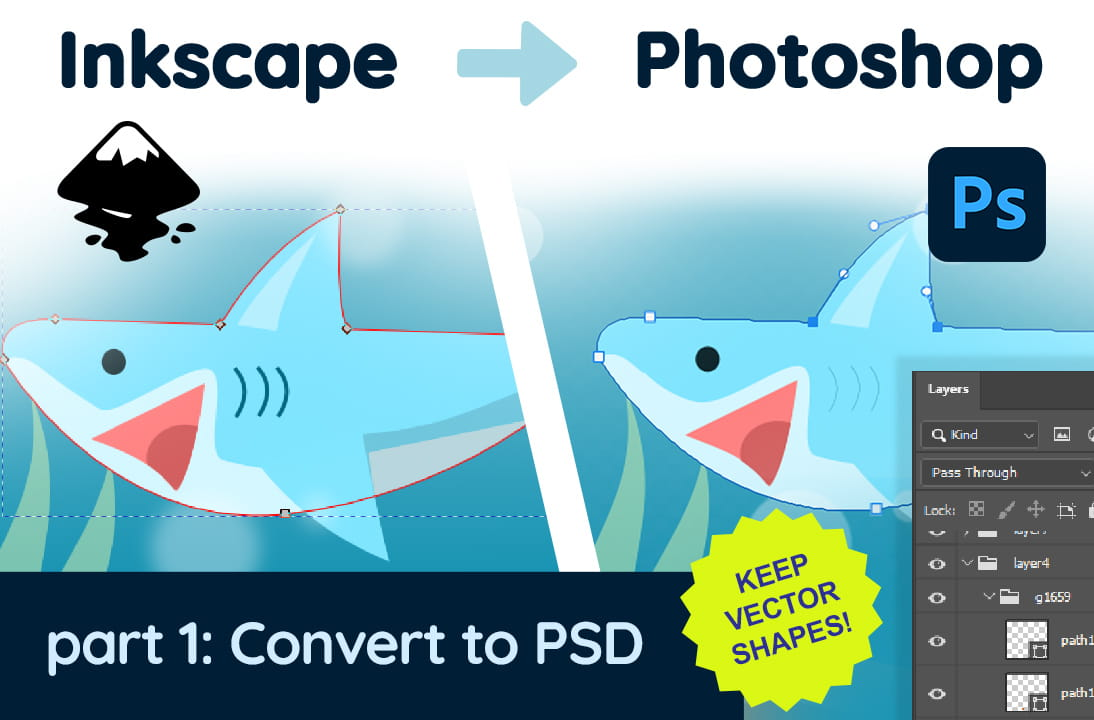 Inkscape & Photoshop #1: Konversi SVG ke PSD (Editable Vector)