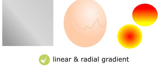 Fill gradient in Inkscape