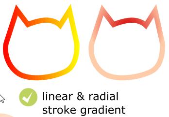 Line gradient in Inkscape