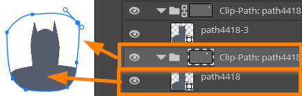 Clip path is editable