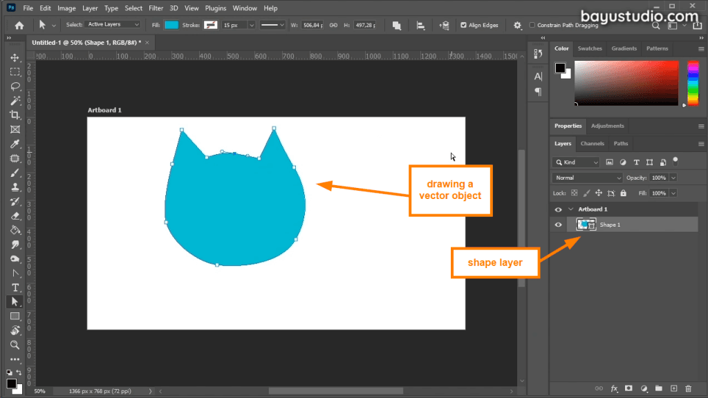 Drawing vector in photoshop
