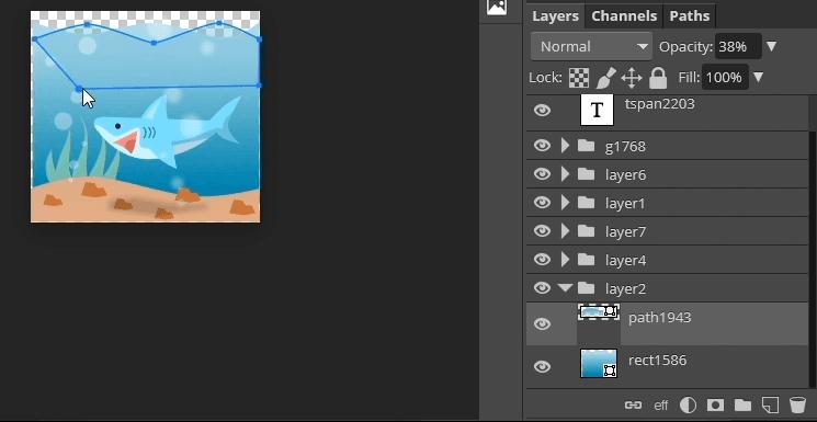 Editable shapes