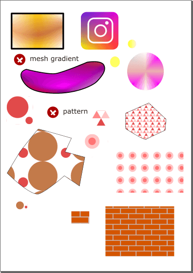 Test document for mesh gradient and patterns