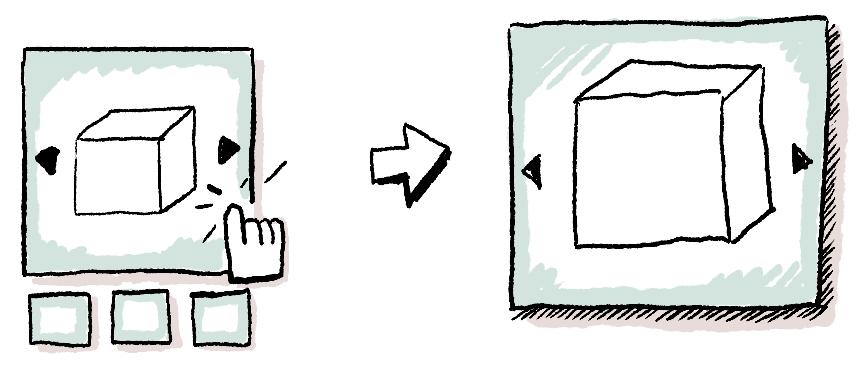 Illustrasi thumbnail slider