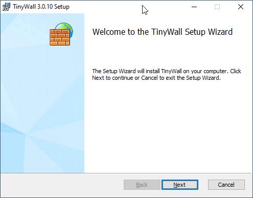 Installer TInyWall
