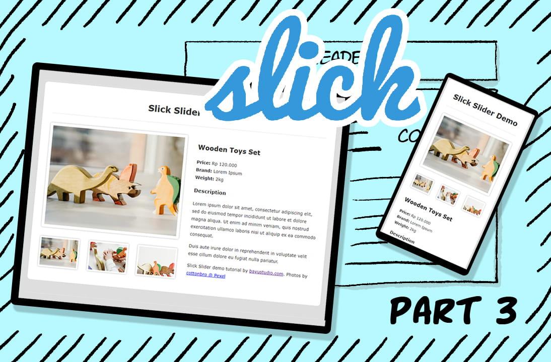 Tutorial Slick Slider part 3: Thumbnail Slider